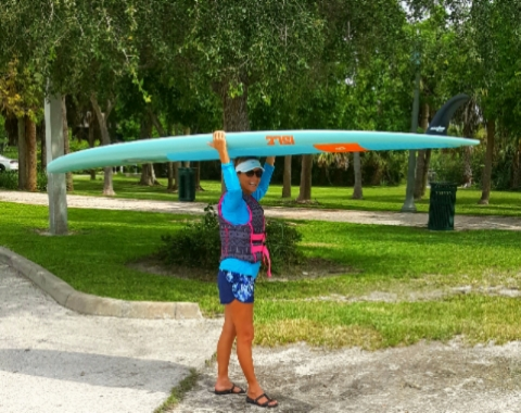 Balancing-Paddle-Board-on-Your-Head